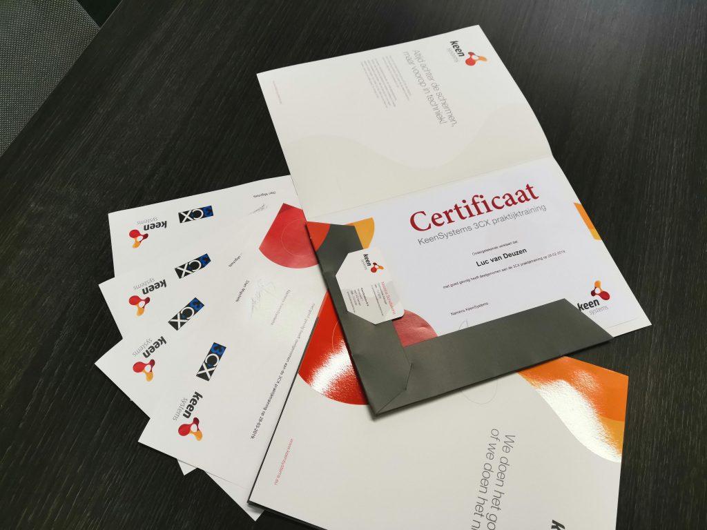 certificaten keensystems 3CX