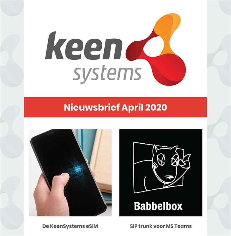 Nieuwsbrief april 2020 KeenSystems