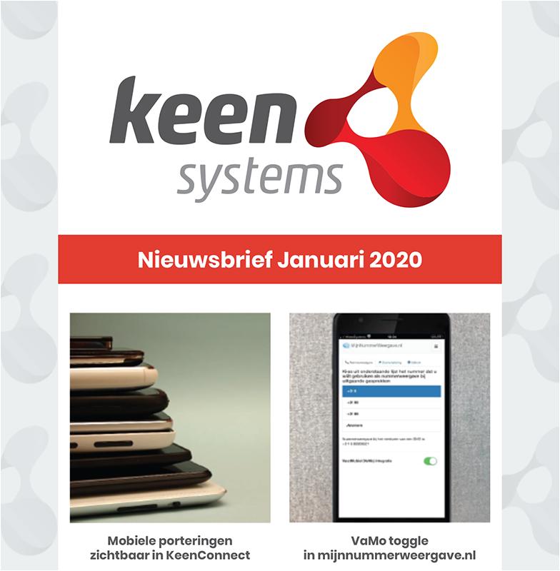 Nieuwsbrief Januari 2020 KeenSystems